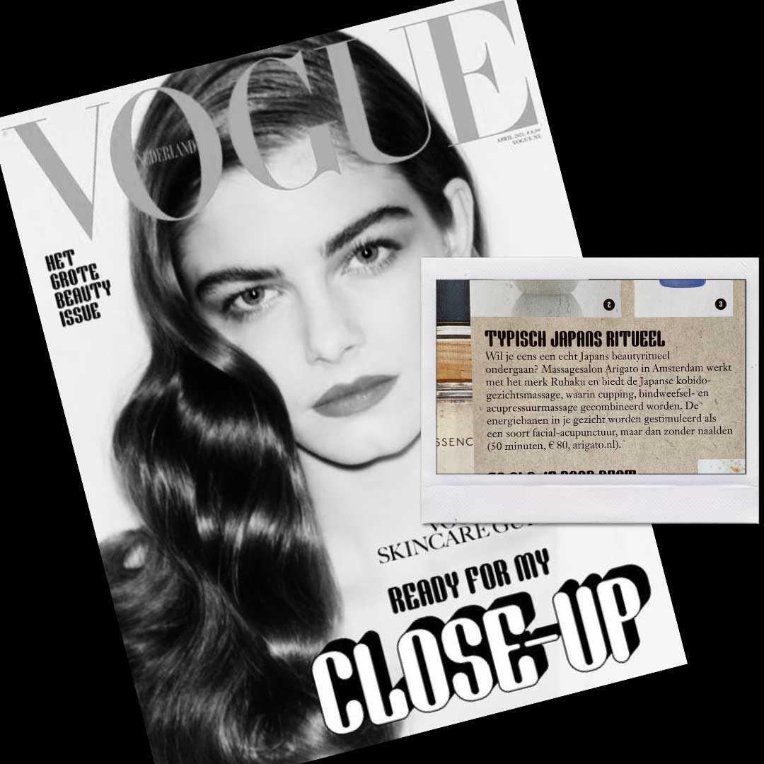 Kobido gezichtsmassage in de VogueArigato